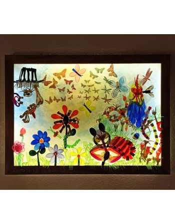 """Illuminated panel """"The old..."""