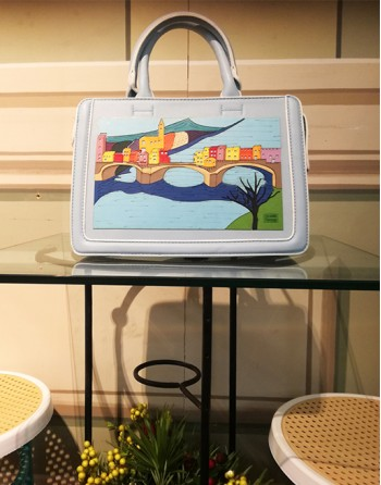 "Frame bag ""A village on the..."