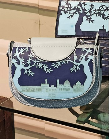 "Blue evening bag ""Florence..."